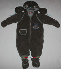 Oilily Snowsuit Bunting Boys size 62 4 months 3-6 Dog Fleece Brown Winter Snow