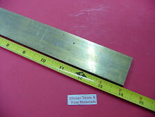 "1/8"" x 2"" C360 BRASS FLAT BAR 14"" long Solid .125"" Plate Mill Stock H02"