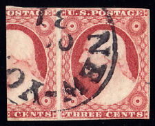 #11A - 3 Cent 1851-7, 70L2L + 3/5 of 69L2L, black New-York OCT 31-dated CDS
