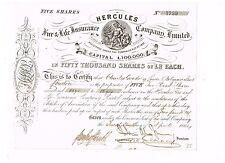 Hercules Fire & Life Insurance Co. Ltd., 1864