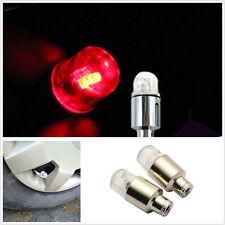 4 x LED rouge feux roue pneu Valve capuchons anti-poussière avec tige porte pour voiture Van moto