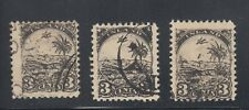 Liberia # 21 THREE USED Perf 11 1/2 FOURNIER FORGERIES