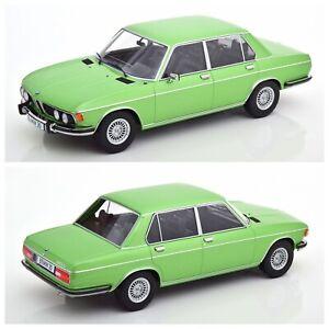 1/18 KK Scale BMW 3.0S E3 Series 1971 Light Green Metallic Livraison Domicile