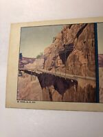 Vintage 1925 Hanging Bridge Near Otai Dam Southern California Stereoview Card