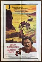 ULZANA'S RAID 1972 Burt Lancaster Robert Aldrich ORIGINAL MOVIE POSTER Fine Cond
