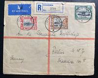 1936 Dodoma Tanganyika British KUT Airmail Cover To Berlin Germany
