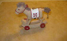 Mississippi State BullDogs Rocking Horse Christmas Tree Ornament -NEW MIB