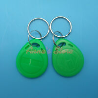 5PC GREEN EM4100/4102 Keychains 125Khz RFID Proximity ID Card /Tags /Keyfobs