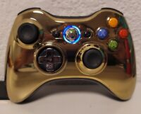 Genuine Microsoft XBox 360 Gold Star Wars Controller Free Ring Of light Led