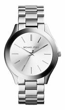 Michael Kors Slim Runway 42 mm Stainless Steel Case Women's Wrist Watch with White Dial - (MK3178)