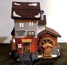 Stoder Grist Mill #59536 Retired Dept 56 Alpine Village light and Boxed