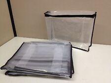 """LOT 10 NEW Zippered Storage Organization Cube Bag 11 x 9 x 3"""" Clear PEVA Plastic"""