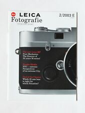 LEICA Fotografie International Magazine 2/2003 MP; Frieder Blickle NYC; 35mmDual