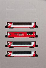 Kato 10-1146 Swiss Alps Glacier Express 4 Cars Add-on Set (N scale)