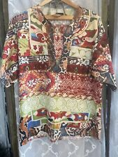 JUST CAVALLI Hawaiian Cotton Tunic Shirt Size XL