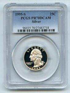 1995 S 25C Silver Washington Quarter Proof PCGS PR70DCAM