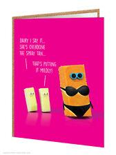 BrainBox CANDY Divertido Humor Queso Cumpleaños Tarjetas de felicitación