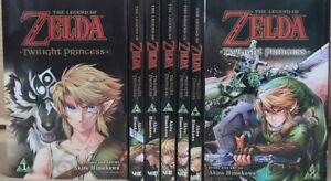 The Legend of Zelda: Twilight Princess Manga Books Lot Vol.1-4,6-8 English Viz
