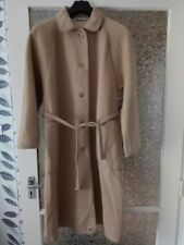VINTAGE WETHERALL REVERSIBLE CAMEL AND CREAM WOOL COAT SIZE: UK 14