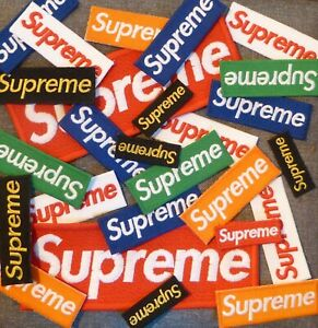 Supreme Sew On Patch 3 Sizes Free P&P