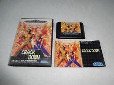 El crack down Mega Drive juego completo con embalaje original y guía