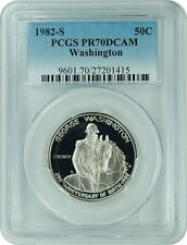 1982-S Pcgs Pr70Dcam Washington Commemorative Half Dollar (New Pcgs Label)