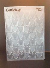 Cuttlebug Provocraft Framed Hearts Embossing Folder Love Valentine's Wedding