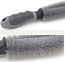 Car Tyre Cleaning Brush for Universal use grey handle 1 pc