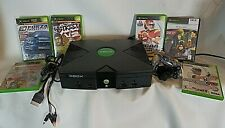 Microsoft Original Xbox Console Controller Cords System Tested Works! + 6 Games!