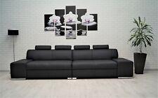Echtleder Rindsleder Sofa Echt Leder Sofa Couch mit Kopfstützen viele farben !