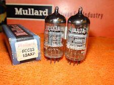 Vintage Matched Pair of Mullard 12AX7 ECC83 Vacuum Tubes  Bogey++