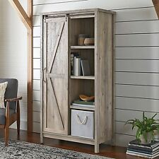 Farmhouse Rustic Bookcase Kitchen Cabinet Pantry Foyer Storage Media