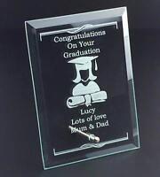 Female Graduation Congratulations Personalised Engraved Glass Plaque FMGGP-GP