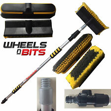 NEW 2M 6.6FT ALUMINIUM TELESCOPIC WATER FED WINDOW CAR VAN WASH BRUSH EXTENDABLE