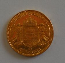 1902 Austro-Hungarian  Gold 20 Korona 6.775 grams Coin Low Mintage