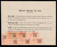 1963 Vietnam Cong-Hoa document / invoice displaying 7 fiscal / revenue stamps