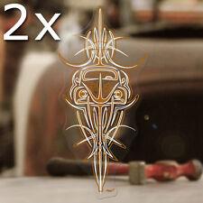 2x Stück Bug Pinstriping Sticker Aufkleber Autocollante Käfer Cox kupfer