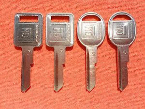 4 CHEVY GMC TRUCK KEY BLANKS 1967 1971 1975 1979 1983 1984 1985 1986