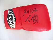 Kevin Mitchell Ampro BOXING GLOVE firmato a nostra esclusiva firma AFTAL / UACC RD
