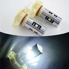 2x White H16 LED Fog Light Bulbs Error Free CREE 25W Projector 5202 5201 PSX24W