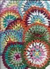 9 psc set Hand Crochet Doilies 5' Rainbow  Colorful  Mandala Boho Vintage Hipp