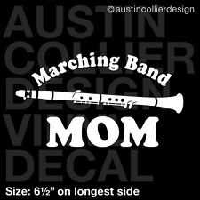 "6.5"" MARCHING BAND MOM w/ CLARINET vinyl decal car truck window laptop sticker"
