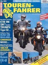 TF0905 + Vergleich KTM 990 SM T vs. TRIUMPH Tiger 1050 SE + TOURENFAHRER 5/2009