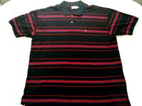 US Polo Assn. Mens 4XLT 1/4 Button SS Blue with Blue/Red Stripes Shirt