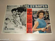 EUROPEO=1957/31=MARLA LANDI=LANCIA FLAMINIA=GINA LOLLOBRIGIDA=TOMMY MANVILLE=