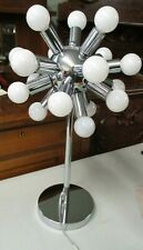 VTG MID CENTURY MODERN ATOMIC SPUTNIK TABLE LAMP WITH 18 BULBS WORKING GREAT!!