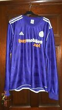 MENS FOOTBALL SHIRT - DERBY COUNTY - XL - AWAY 2011/12 - ADIDAS - LONG SLEEVES