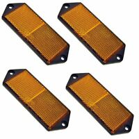 Amber Large Rectangular Side Reflector Pack of 4 Trailer Fence / Gate Post TR0