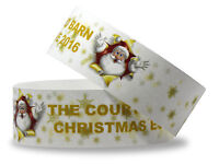 Printed Christmas Wristbands: 25mm Bands Full Colour - 10 Designs