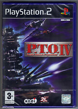 PS2 P.T.O IV (2003), Italian Version, UK Pal, Brand New & Sony Factory Sealed